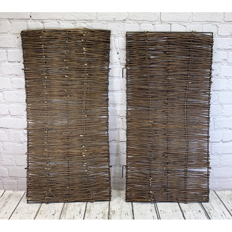 Pair of Front Panels for Double Wheelie Bin Screens